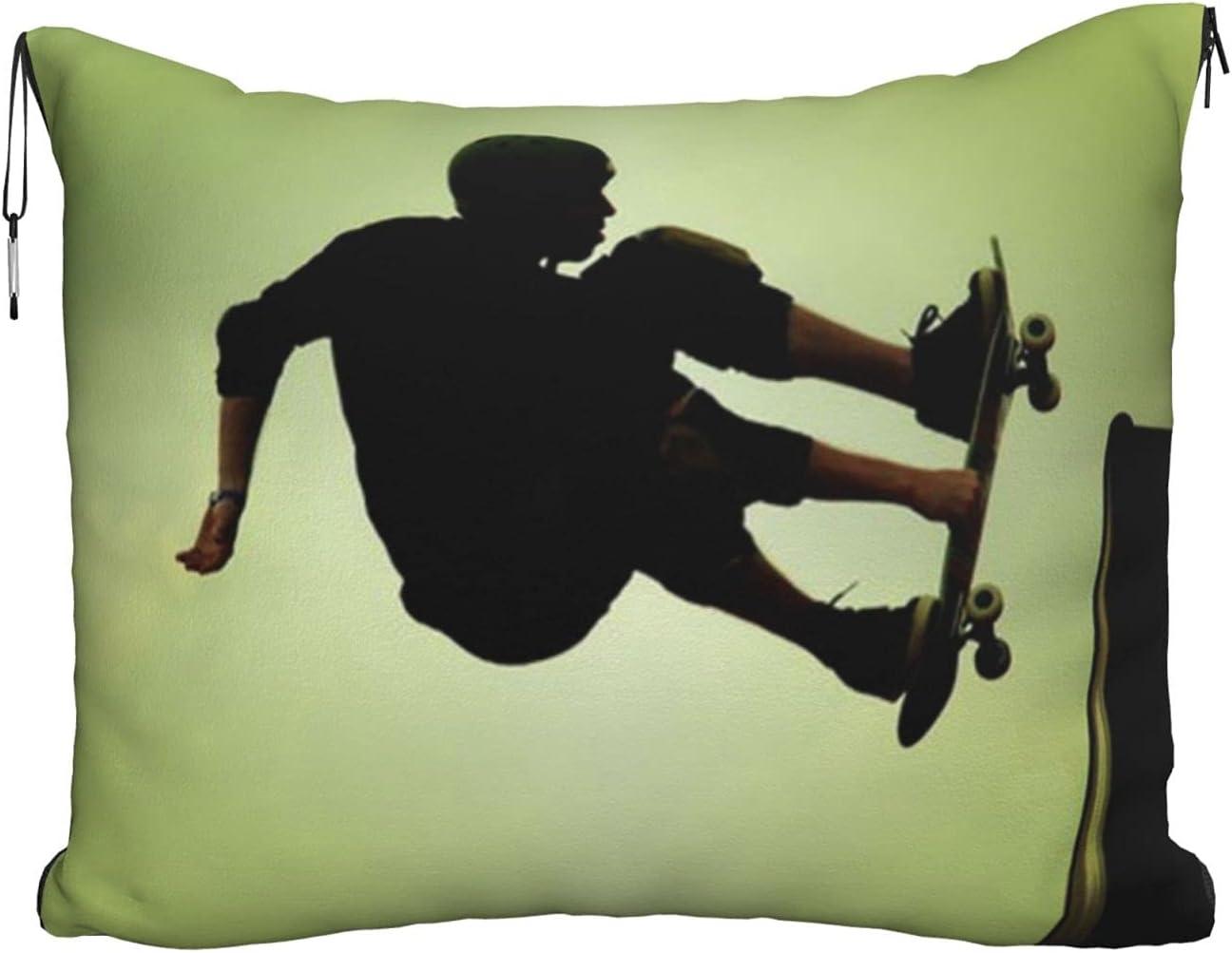 Mescchskskateboard Print Travel Pillow Blanket Max 63% OFF Combo Pill Max 71% OFF