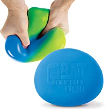 Play Visions Giant Color Changing Stress Ball - Huge Squishy Anxiety Reliever - Super Soft 6 Inch Stress Ball