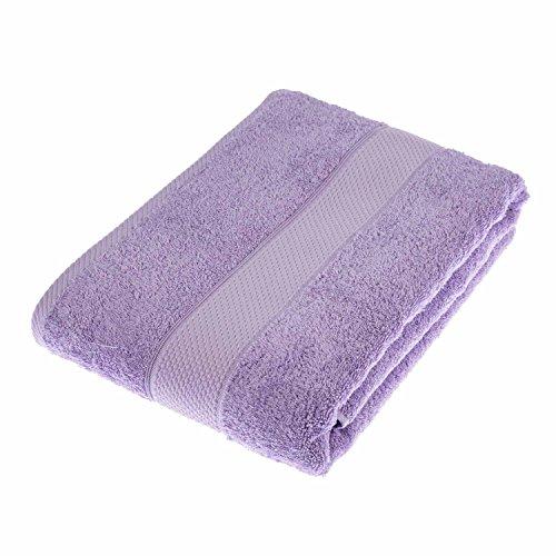 HOMESCAPES Toalla baño Grande, 100% algodón Turco Absorbente y Suave, Color Lila 100 x 150 cm ⭐