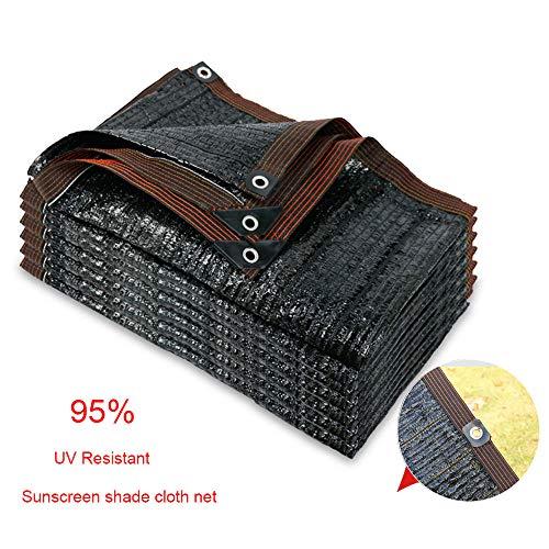 AYHMT Exterior Bloqueador Solar Red De Sombra,Negro Paño De Sombra, Malla De Sombreo Transpirable, Privacidad Y Pantallas De Protección con Ojal, Protección UV del 95%,se Puede Personaliza