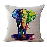 MissW Funda De Almohada Decorativa De La Serie Elefante De...