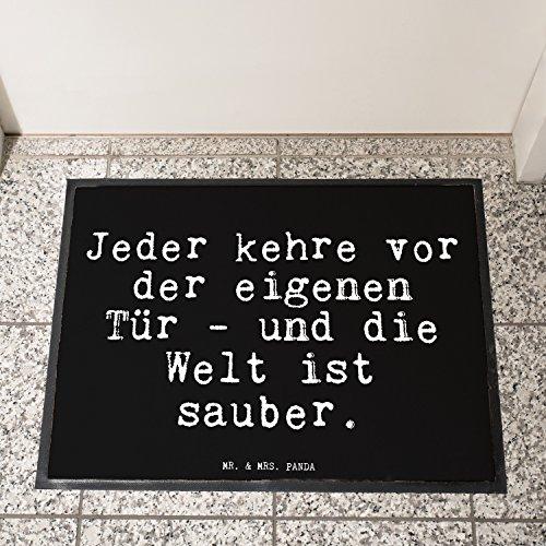"""Fußmatte – Goethe Zitat """"Jeder kehre vor der eigenen Tür """" - 3"""