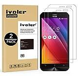 iVoler [Pack de 2] Verre Trempé pour ASUS Zenfone 2 Laser ZE500KG / ZE500KL 5.0 Pouces [Garantie à Vie], Film Protection en Verre trempé écran Protecteur vitre (0,3mm HD Ultra Transparent)