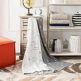 Safavieh Ella Knit Throw Blanket, Light Grey/Ivory