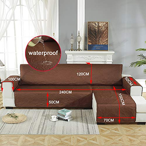YaoJP bankovertrek voor hoekbank, waterdicht, met elastische band, verstelbaar, voor kinderen en huisdieren, wasbaar in de wasmachine