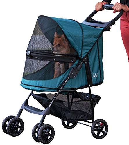 Pet Gear Happy Trails - Cochecito sin cremallera, color verde esmeralda
