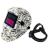 Casco de Soldadura de oscurecimiento automático con energía Solar, Pantalla Ancha 4-5/9-13 Capucha de Soldadura de máscara de Soldador para TIG MIG ARC