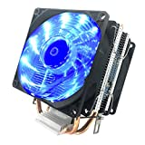 CPU Cooler Fan PC Heatsink, LED Fan Computer CPU Air Cooling Cooler Radiator