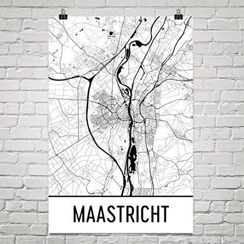 Maastricht Map, Maastricht Art, Maastricht Print, Maastricht Poster, Maastricht Wall Art, Nederland Cadeau, Kaart van Nederland Poster