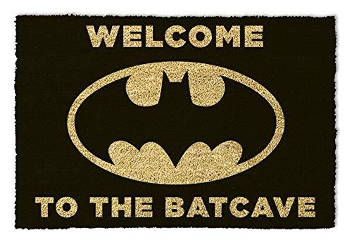 empireposter Batman Welcome to The Batcave Black - Fußmatte, Größe: 60 x 40 cm, Material Kokosfaser/PVC