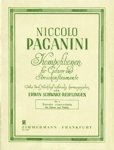 Sonata concertata A-Dur: Violine und Gitarre. (Kompositionen für Gitarre und Streichinstrumente)