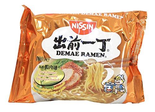 Nissin Demae Ramen – Ente, 10er Pack, Instant-Nudeln japanischer Art, mit Entenfleisch-Geschmack, Knoblauch & asiatischen Gewürzen, schnell & einfach zubereitet, asiatisches Essen (10 x 100 g)