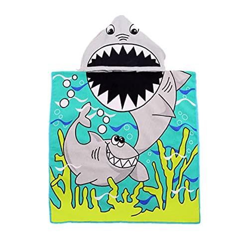 NIDONE con Capucha para niños Toalla de Playa de natación Encantador de Dibujos Animados Capa Albornoz para Chicos, Chicas Gris