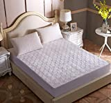 XLMHZP Topper viscoelastico,Funda de colchón Acolchada Permeable 100% algodón Cinturón elástico Ajustable Sábana...