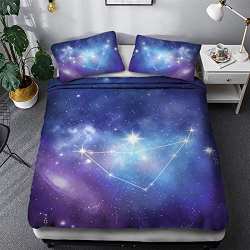 Wjmss 3D Duvet Cover Set with 1 Pillowcase Single double Twin/Queen 2pcs/3pcs bedding sets for Starry Enthusiast Bedroom,260 * 230cm