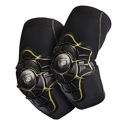 G-Form Pro-X Ellenbogenschoner (Herren/Damen) für Mountainbike, Skateboard, Inliner, Volleyball, Fahrrad, BMX, E Bike, mit hohem Schlagschutz und verbesserter Flexibilität - Schwarz und Gelb - Größe S