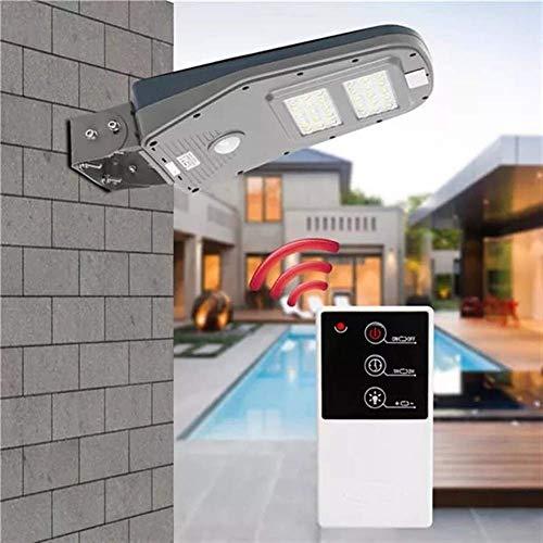 QINGJIA Decoración de Iluminación, La iluminación exterior 30 LED con energía solar sensores movimiento Farola pared impermeable al aire libre de la lámpara con control remoto