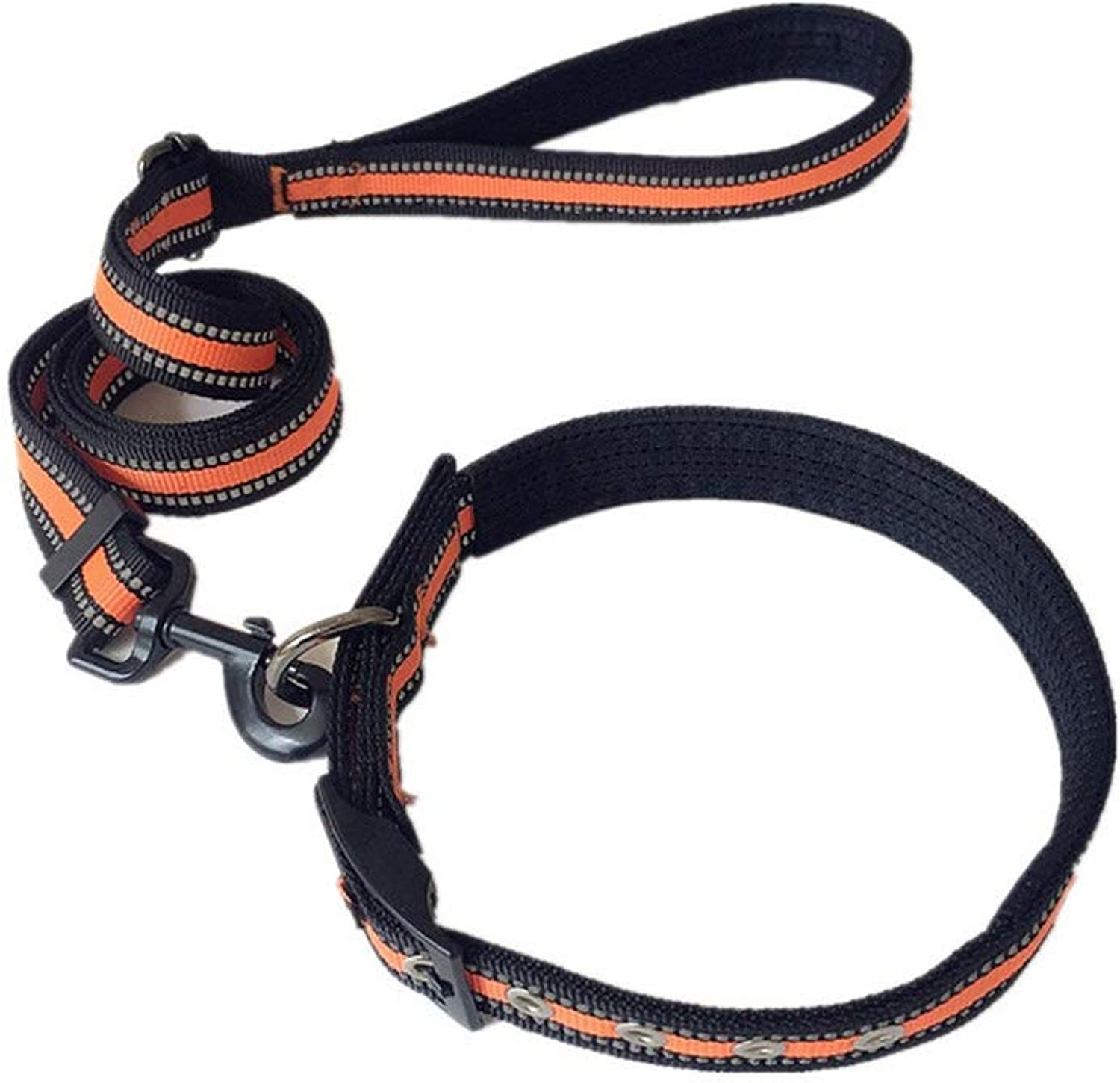 DSADDSD Pet Leashes Medium And Large Dogs Chain Rope Reflective for Night Time Walking Durable Pet Supplies (color   1 , Size   L)