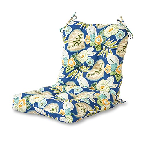 Greendale Home Fashions AZ5815-MARLOW Magnolia Floral 42'' x 21'' Outdoor Seat/Back Chair Cushion