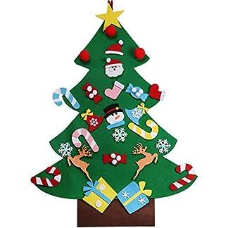 XONOR Set de Bricolaje de árbol de Navidad con Adornos para niños, Adornos de año Colgar en la Pared
