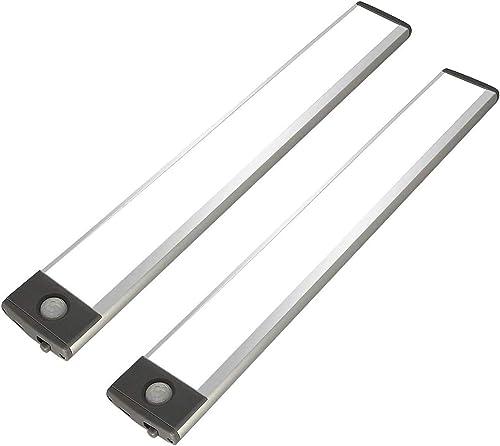 New 54 LED Under Cabinet Light, 2500mah Rechargeable Wireless Motion Sensor Closet Light, Aluminum LED Panel 6500K Su...