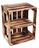 flambierte/geflammte Massive Obstkisten als Regal oder als Klassische Kiste ca 49 x 42 x 31...
