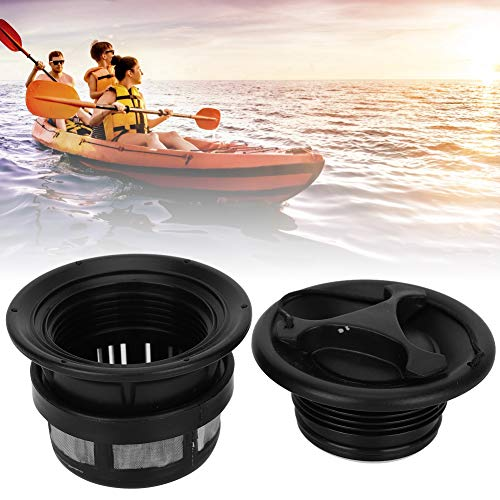 VGEBY Inflatable Boat Air Valve, 3Pcs Universal Spiral Air Plug Safety Air Valve with Filter Mesh Accessory for Inflatable Tent Boat Kayaks(black)