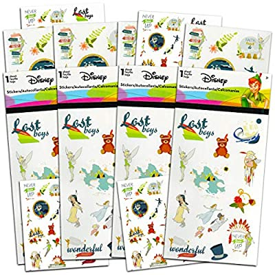 Disney Peter Pan Sticker and Tattoos Party Favors Super Set ~ Bundle Includes Over 200 Peter Pan Temporary Tattoos and Stickers (Peter Pan Party Supplies)