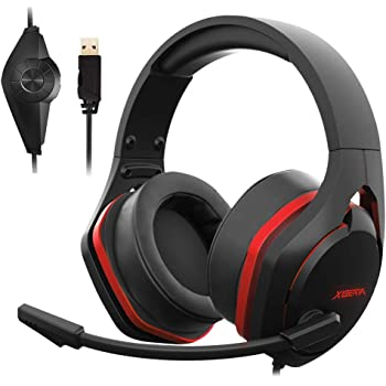 Jeecoo V22 Gaming Headset for PC- Strong Bass Virtual 7.1 Sound- USB Headphones