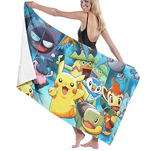 Pok_émon G_O - Toalla de baño grande de microfibra, súper suave, ligera, muy absorbente, de secado rápido, para natación, deportes, playa