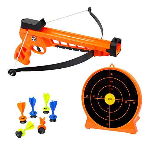 ArmoGear Bow & Arrow Archery Set   Includes Blaster Bow, 6 Suction Darts, Shooting Target   Great Crossbow Toy for Kids   Indoor & Outdoor Play Toy for Kids Boys & Girls