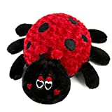 HollyHOME Super Soft Stuffed Animal Ladybug Plush Toy 19 Inches Dark Red