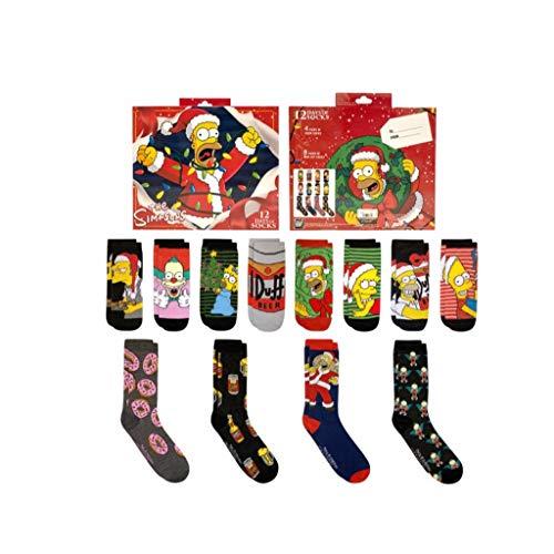 The Simpsons 12 Days Of Socks Geschenkset für Herren