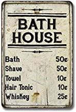 Chico Creek Signs Bath House Price List Sign Vintage Decor Signs Shower Shave House Farmhouse Rustic Bathroom Decorations Wall Art Tin Bathhouse Metal Gift 8 x 12 High Gloss 208120020175