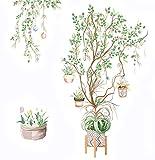 Adesivi Murali Albero Sticker da Parete (albero di vite in fiore)...