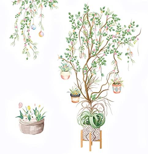 Adesivi Murali Albero Sticker da Parete (albero di vite in fiore)