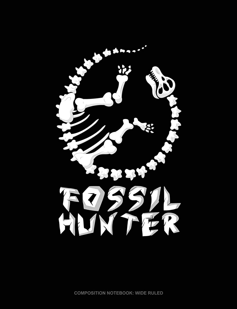 Fossil Hunter: Composition Notebook: Wide Ruled