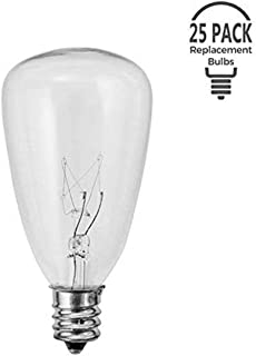 Monkeydg 25-Pack ST35  Light Bulbs Replacement Edison Clear Bulbs -5 Watts C7/E12 Screw Base for Indoor/Outdoor Patio String Lights