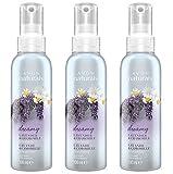 3x spray profumati Avon Naturals, lavanda e camomilla, 100ml