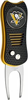 Team Golf NHL Switchblade Divot Tool with Double-Sided Magnetic Ball Marker, Features Patented Single Prong Design, Causes Less Damage to Greens, Switchblade Mechanism