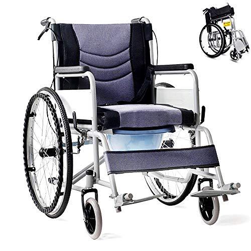 Round World 車椅子 軽量 折り畳み車いす 車イス ブレーキ ノーパンクタイヤ 車いす 介護用品 プレゼント 折りたたみ 自走用車いす 自走車椅子 軽い車椅子 コンパクト お年寄り 便器付き