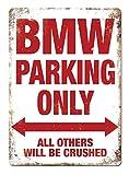 Adorepug BMW Parking Only Blechschild The Art Iron Painting