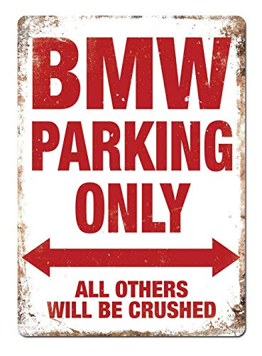 Generies BMW Parking Only Metal Cartel De Chapa Decoración Cartel De Pintura De Hierro Popular para Bar Cafetería Comedor Casa Club