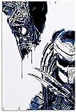 Puzzle 120 Piezas Adultos Niños Rompecabezas Película y TV Pop Alien Vs Predator 9.8x7.8inch(25x20cm) Sin Marco