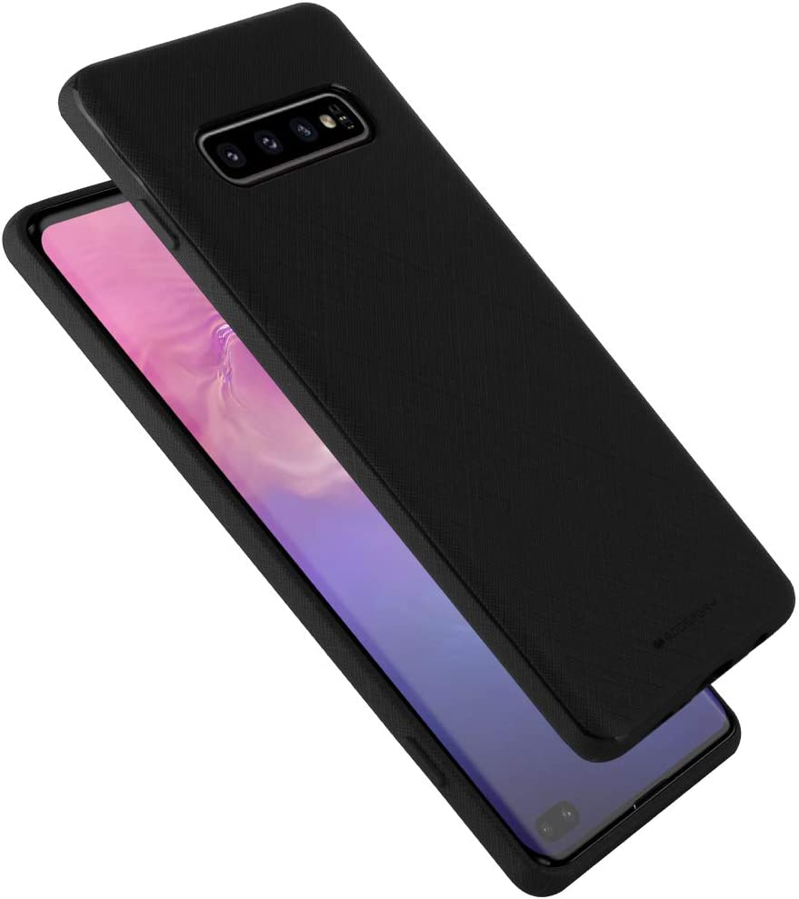 Goospery Style Lux Jelly for Samsung Galaxy S10 Plus Case (2019) Thin Slim Bumper Cover (Black) S10P-STYL-BLK