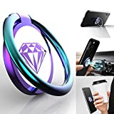 Phone Ring Holder Finger Kickstand, GPEESTRAC 360° Rotation Metal Phone Holder for Hand, Cell Phone Ring Holder Ring Grip for Magnetic Car Mount Compatible with iPhone & Android (Colorful)