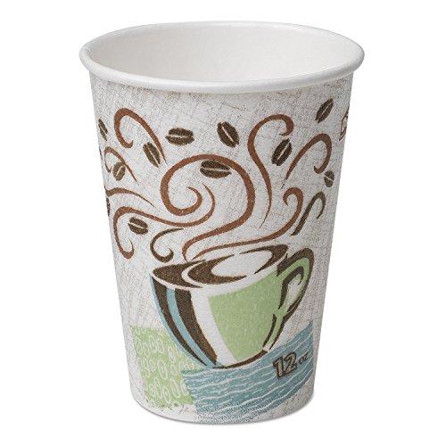 Dixie 5342CDPK Hot Cups, Paper, 12oz, Coffee Dreams Design, 50/Pack