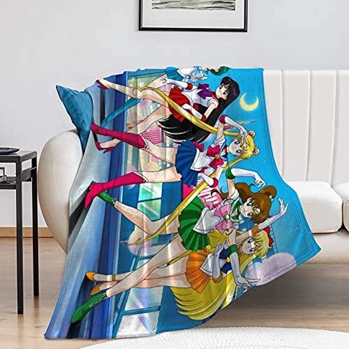 Preciosa manta de franela cálida súper suave para niños, hombres, mujeres, 127 x 101 cm