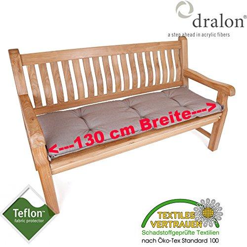 ROG garden-line PL96: dralon® / Teflon™ Premium Auflage FÜR Bank 130 x 50 cm Cappuccino