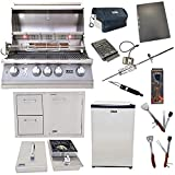 Lion Premium Grills 32-Inch Liquid Propane Grill L75000 with Single Side Burner, Eco Friendly Refrigerator, Door and Drawer Combo with 5 in 1 BBQ Tool Set Best of Backyard Gourmet Package Deal